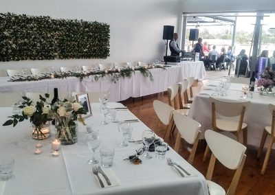 Elegant wedding setting